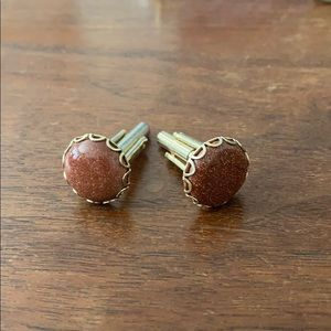Other - Goldstone gold-tone cufflinks